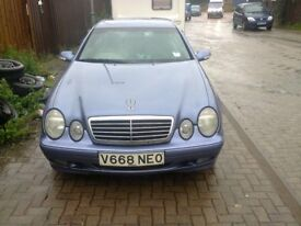 MERCEDES CLK V REG EXCLENT ENGINE BOX WITH MOT TILL 2018 CLASSIC INSURANCE ONE OWNER FROM NEW
