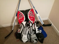 Almost Complete Ice Hockey Goalie Equipment, Excellent Condition