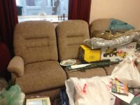 ALMOST NEW 2/3 SEATER SOFA. Bought from Leekes 16 months ago, cost £1000