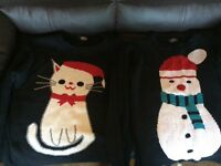 Ladies Christmas Jumpers (size 10/12)