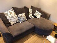 DFS Corner and Cuddle Sofa