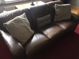 Leather suite 3 + 2 + 1 sofa set