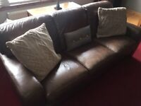 Leather suite 3 + 2 + 1 sofa set
