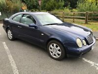 Mercedes CLK 230 Elegance Kompressor 2295cc Petrol Automatic 2 door Coupe V reg 02/09/1999 Blue