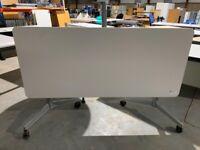 office folding desk table meeting boardroom on wheel white
