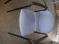 5 Blue Patterned Office chairs