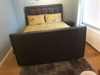 King size TV bed and foam mattress