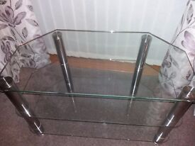 Glass TV stand table large