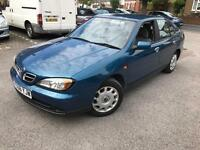 2001/Y REG NISSAN PRIMERA 1.8s 1 YEARS MOT DRIVES VERY WELL
