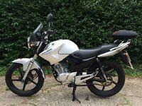 Yamaha YBR-125 2012 Silver ONLY 1,172 miles - Serviced and MOT'd (+2x helmets) YBR125