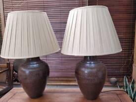 Brown Metal Based Lamps
