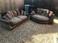 SCS 3 seater and cuddle chair