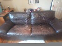 Free 3/4 seater leather sofa