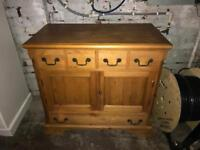 Stunning solid pine sideboard tv stand hall cabinet can deliver