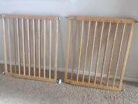 Mothercare wooden stair gates x2