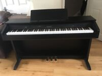 CASIO CELVIANO AP-250 DIGITAL PIANO IN BLACK FULL SIZE 88 KEYS 3 pedals, nearly new piano