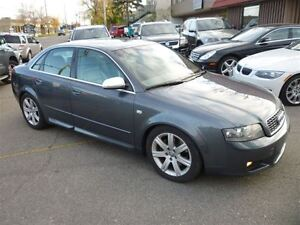 2004 Audi A4 3.0 QUATTRO/LEATHER/SUNROOF/1 OWNER CAR/LOW KMS!