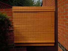Large Bamboo Roller Blind