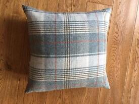 4 John Lewis tartan cushions