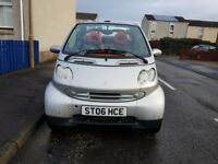 Smart fortwo Convertible Cabriolet 2006 only 38K, Full years MOT and Serviced