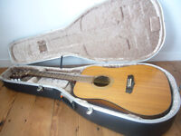 Aria LW12 acoustic guitar and hard case (made in the early 1980's)
