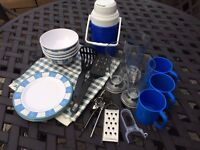 Camping Plates, Cups, Glasses and Utensils