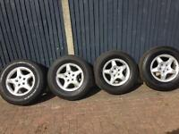 "16"" Mercedes ML alloy rims with tyres"
