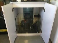 Fully equipped double marine fish tank
