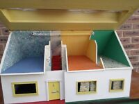 60's Dolls House Chalet Style with working electric lights