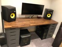 KRK Rokit 8 with KRK 10S Sub, DAC, cables and speaker stands