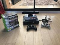 Xbox 360 with Kinect 2 controllers and 20 games