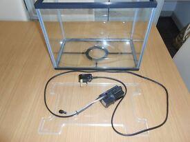 Fish tank with pump.