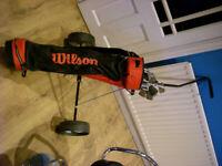Wilson Golf Clubs + Bag Trolley