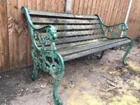 Garden bench very heavy quality Victorian vintage era styling