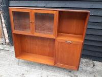 Vintage retro mid century 60s 70s G plan display cabinet book case shelves storage
