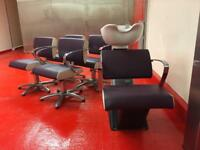 Hairdressing chairs and backwash set