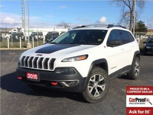 2015 Jeep Cherokee TRAILHAWK**LEATHER**TRAILER TOW GROUP**NAV**