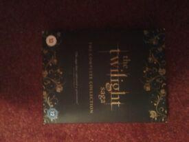 The Twilight Saga DVD Collection boxset for sale.