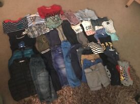 Large bundle of baby boy clothes 12-18mths
