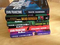 Set of 5 John Francome Books, one autographed!