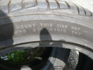 two 235-45-18 tires , like new $200.00