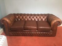Brown Leather Original Chesterfield Sofa