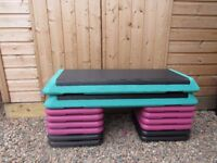 Stacking gym steps for training as new, many levels
