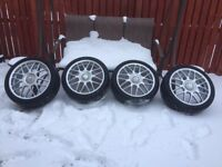 "VW Golf Anniversary 18"" BBS RC Alloys & Tyres Recent Refurb Like New Condition Audi / Seat / Skoda."