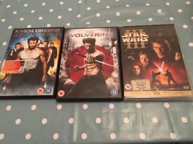 DVD's £2 each