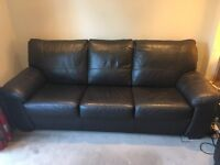 DFS Pavilion Leather 3 Seater Sofa Bed - Excellent Condition
