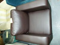 Brown Vinyl covered occasional chair…31486D