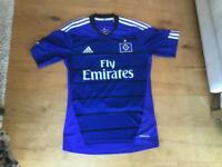 HSV Retro Football Shirt, Hamburg Adidas Fly Emirates Shirt blue Klassiker Shirt