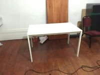 Three White Ikea Table s / desk s 75 x 125 cm each
