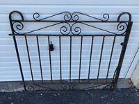 Drive way gates solid x2 iron